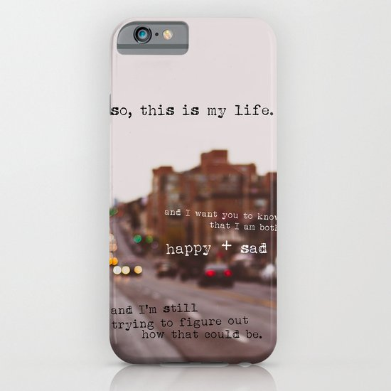 perks of being a wallflower - happy + sad iPhone & iPod Case