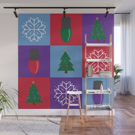 Ugly Christmas Sweater Pattern Wall Mural