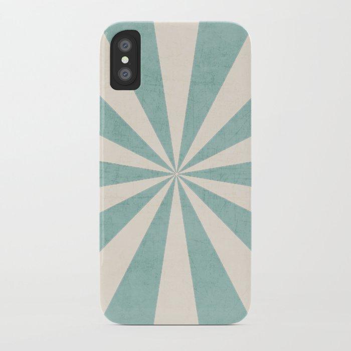 robins egg blue starburst iPhone Case