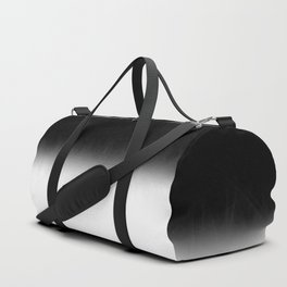 Black and White Split Fade Inverse Duffle Bag