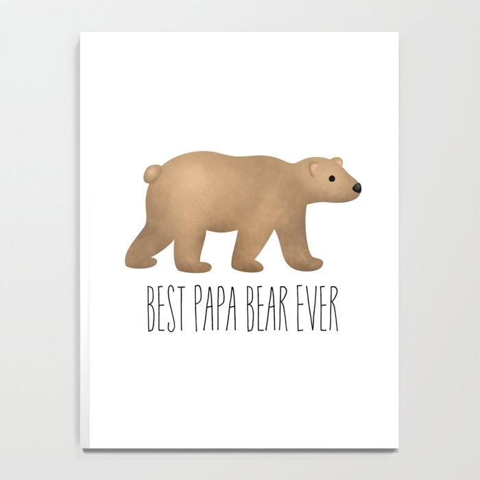 Best Papa Bear Ever Notebook