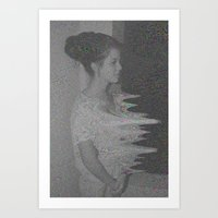 glitch Art Prints featuring Glitch by Amélie Haeck