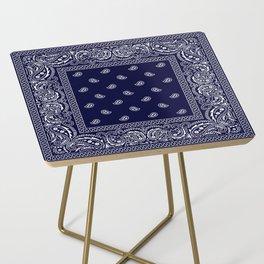 Bandana - Navy Blue - Southwestern Side Table