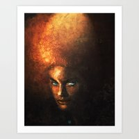 afro Art Prints featuring AFRO by John Aslarona