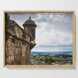 View of Edinburgh, Scotland from Edinburgh Castle Serving Tray