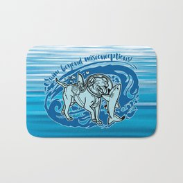 (v2) Swim Beyond Misconceptions Bath Mat