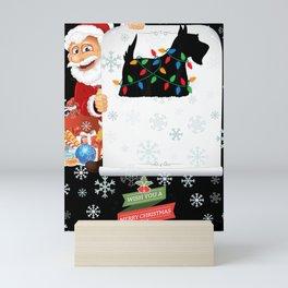 Christmas Lights Scottish Terrier Scottie Dog Lover Mini Art Print