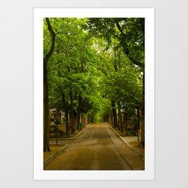Paris_Cemetery Art Print