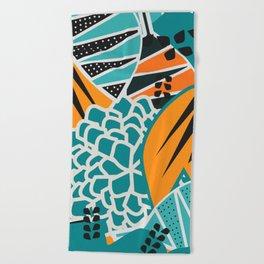 Leaf tropicana Beach Towel