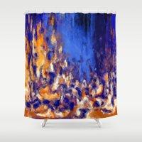 wonderland Shower Curtains featuring Wonderland by Maria Julia Bastias