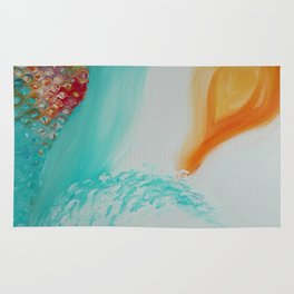 """Cristalda e Pizzomunno"" Original oil finger painting by Monika Toth Rug"