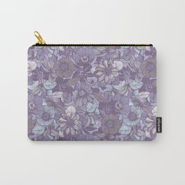 Hellebore lineart florals   soft winter Carry-All Pouch