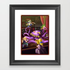 Pixel Art series 3 : Octopus Framed Art Print