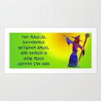 Wizard of Coffee Art Print