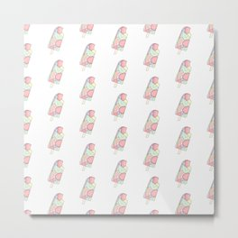 FRUITY POP ((pastels on white)) Metal Print