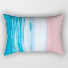 Aqua & Pink Abstract Rectangular Pillow