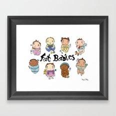 Fat Babies Framed Art Print