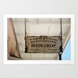 Librairie Bookshop Art Print