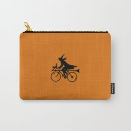 Witch on a Bicycle Carry-All Pouch