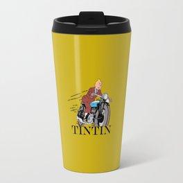Tintin racing gold Travel Mug