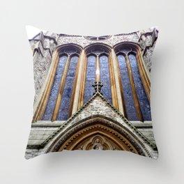 Kensington Church View Throw Pillow
