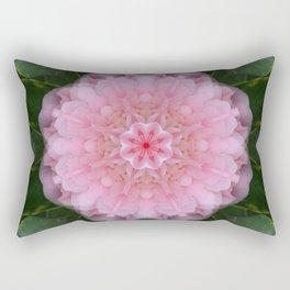 Pink Carnation Mandala Abstract Rectangular Pillow