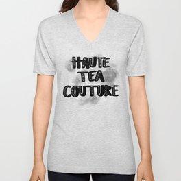 Haute Tea Couture Embellished with Smoke Unisex V-Neck