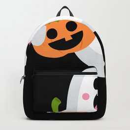 Halloween Ghost With Pumpkin Ghost Costume Backpack