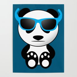 Cool and cute panda bear with sunglasses Poster