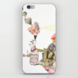 Rhinos Smell Roses Too iPhone Skin