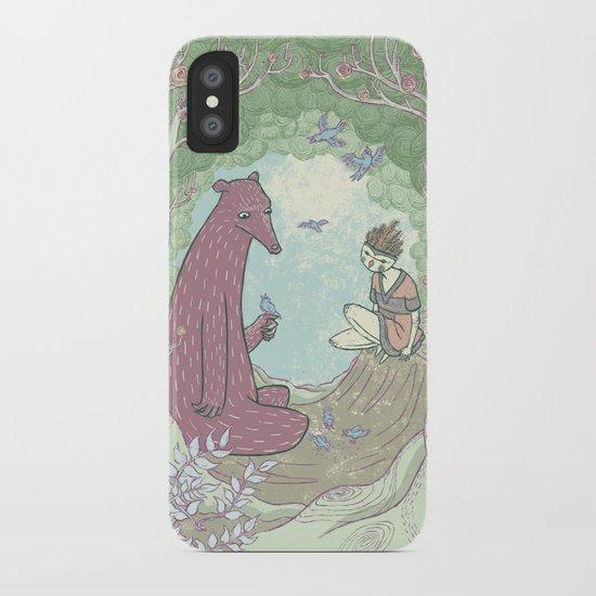 Bear and Bird iPhone Case