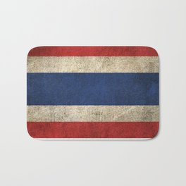 Old and Worn Distressed Vintage Flag of Thailand Bath Mat