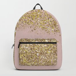 Pink and Gold Glitter Backpack