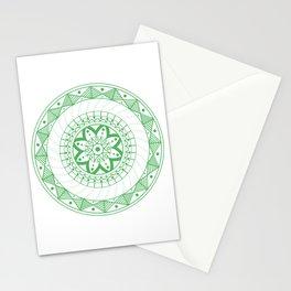 Green Mandala Stationery Cards