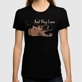 And They Came Two By Two Noahs Ark Animal Lover T-shirt