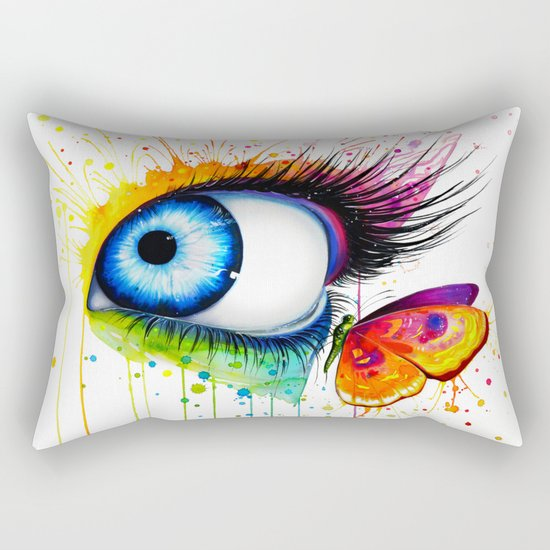 """Rainbow Days"" Rectangular Pillow"