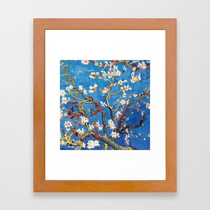 Van Gogh Branches of an Almond Tree in Blossom Framed Art Print