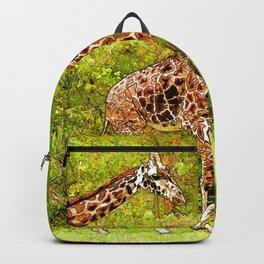 Wild Giraffes - African Wildlife Backpack
