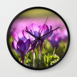 Flower Photography by Marc Schulte Wall Clock