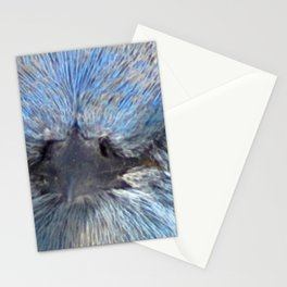 Watercolor Mountain Bluebird mask 01 Stationery Cards