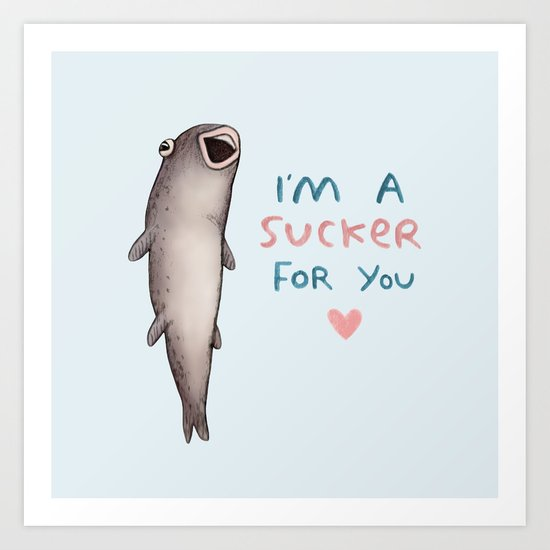 Suckerfish Art Print