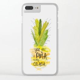 Pina Colada – modern polygram illustration, wall art print Clear iPhone Case