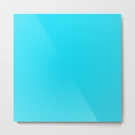 Cotton Candy Blue Broad Cloth Metal Print