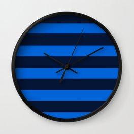 Blue Horizontal Stripes Graphic Wall Clock