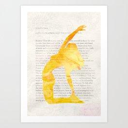 Yoga Teacher Art Print