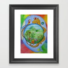 Blue Stone Framed Art Print