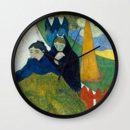 1888 - Gauguin - Arlésiennes (Mistral) Wall Clock
