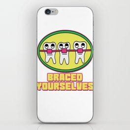 Braces Funny metal mouth sexy tooth dentist brace 1 iPhone Skin