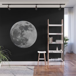 Almost Full Moon Wall Mural