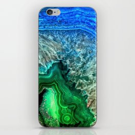 Turquoise Green Agate Mineral Gemstone iPhone Skin